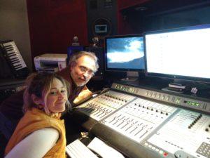 Fabiola Russo y Carlos Cosattini editando KASHMIR